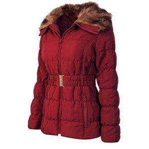 Womens Fur Collar Coat